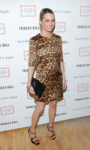 Amanda Hearst chose a sleek and stylish leopard-print frock for her look at the 2013 Tribeca Ball.