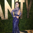 Lily Collins Wore Zuhair Murad at the Vanity Fair Oscars Party 2013