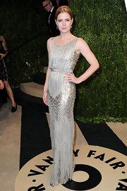 Amy Adams channeled some old-school Hollywood with this silver fringe dress she wore to the 2013 Vanity Fair Oscar Party.