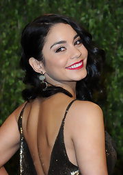 Vanessa Hudgens brought out the bling at the Vanity Fair Oscar party with these multi-gem earrings that feature sapphires, rubies, emeralds, and diamonds.