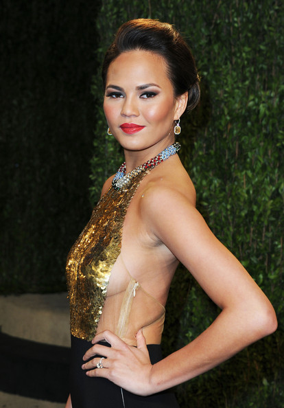 More Pics of Chrissy Teigen Evening Dress (2 of 7) - Chrissy Teigen Lookbook - StyleBistro