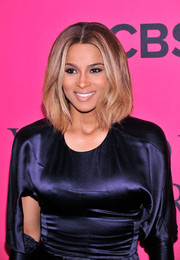 Ciara looked pretty and stylish with her subtly wavy center-parted 'do at the Victoria's Secret fashion show.