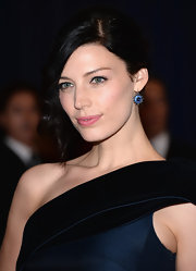 Jessica Pare rocked this pinned back 'do that featured a front curled piece.