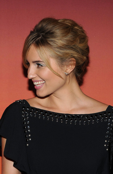 Dianna Agron pinned her hair up in a retro-chic 'do for the Whitney Gala and Studio Party.