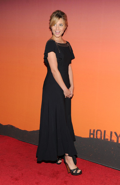Dianna Agron paired black platform sandals with a flowy dress for the Whitney Gala and Studio Party.