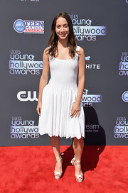 Stella Maeve went for classic white at the 2013 Young Hollywood Awards where she wore this pleated ivory frock.