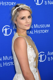 Dianna Agron attended the American Museum of Natural History Gala wearing a barbwire-inspired headband by Gigi Burris.