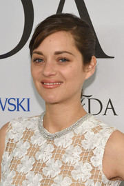 Marion Cotillard styled her lacy dress with a stunning diamond collar necklace by Chopard when she attended the CFDA Fashion Awards.