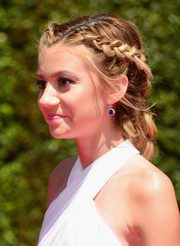G. Hannelius looked super charming wearing this braided updo at the Creative Arts Emmy Awards.
