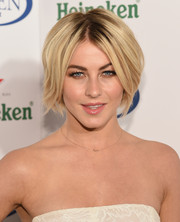 Julianne Hough sported a cool layered razor cut at the Heineken US Open kick-off party.