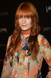 Florence Welch brought a hippie vibe to the LACMA Art + Film Gala with this wavy 'do teamed with a colorful floral outfit.