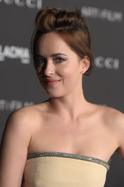 Dakota Johnson took a risk with this messy updo at the LACMA Art + Film Gala.