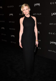 Kirsten Dunst opted for a simple yet sophisticated black Gucci halter gown when she attended the LACMA Art + Film Gala.