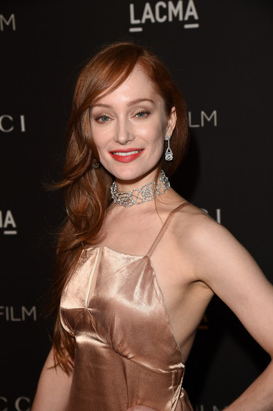 Lotte Verbeek attended the LACMA Art + Film Gala wearing a lovely diamond choker and matching dangling earrings.