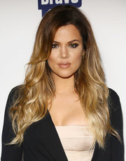 Khloe Kardashian wore her hair in a cascade of ombre waves during the NBCUniversal Cable Entertainment Upfronts.