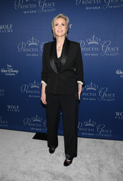Jane Lynch stuck to her signature black pantsuit when she attended the Princess Grace Awards Gala.