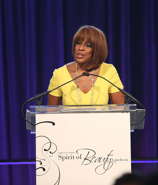More Pics of Gayle King Graduated Bob (1 of 6) - Gayle King Lookbook - StyleBistro [speech,public speaking,spokesperson,orator,event,talent show,spirit of beauty luncheon,cipriani 42nd street,new york city,gayle king]