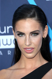 Jessica Lowndes opted for a sleek half-up hairstyle when she attended the Young Hollywood Awards.
