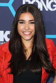 Madison Beer opted for a simple center-parted 'do when she attended the Young Hollywood Awards.