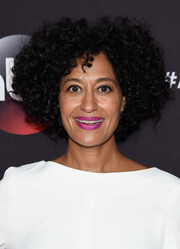 Tracee Ellis Ross attended the ABC Upfront event wearing a funky afro.