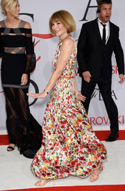 Anna Wintour was summer-sweet in a colorful floral gown during the CFDA Fashion Awards.