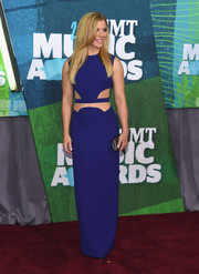Kimberly Perry was trendy-sexy in a cobalt cutout gown during the CMT Music Awards.