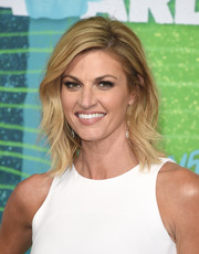 Erin Andrews looked stylish with her feathered layers at the CMT Music Awards.
