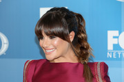 Lea Michelle looked very charming with her braid and rounded bangs at the Fox Programming Presentation.