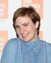 Lena Dunham wore a casual short 'do at the Summer Talks with Judd Apatow event.