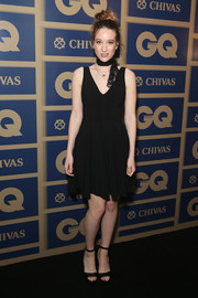 Sophie Lowe went for a simple look in this mini LBD at the GQ Men Of The Year Awards