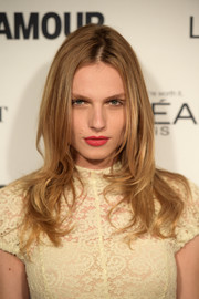 Andreja Pejic was stylishly coiffed with face-framing layers at the Glamour Women of the Year Awards.