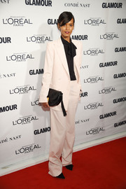Liya Kebede pulled off this baggy menswear-inspired look at the Glamour Women of the Year Awards.
