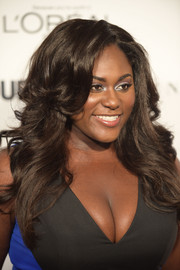 Danielle Brooks worked a fabulous feathered flip at the Glamour Women of the Year Awards.