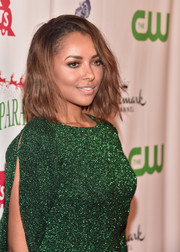 Kat Graham rocked a tousled wavy cut at the 2015 Hollywood Christmas Parade