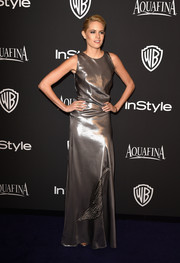 Cody Horn's Vionnet gown at the InStyle and Warner Bros. Golden Globes party was edgy with hints of Old Hollywood gloss.