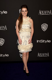 Kaitlyn Dever chose a frilly vintage Chanel cocktail dress for the InStyle and Warner Bros. Golden Globes party.