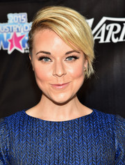 Tina Majorino styled her hair into a half-braided 'do for the 2015 Industry Dance Awards.