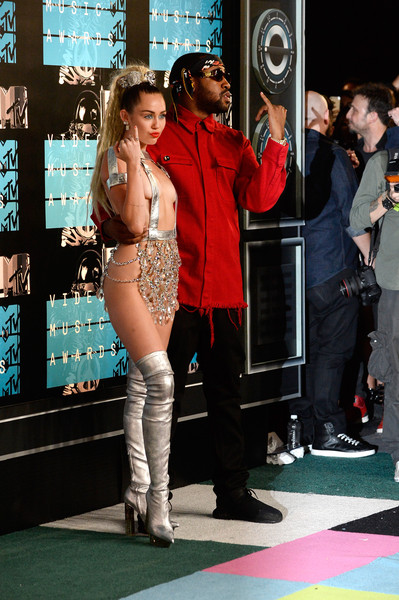 More Pics of Miley Cyrus Ponytail (1 of 110) - Miley Cyrus Lookbook - StyleBistro [fashion,leg,premiere,thigh,flooring,carpet,event,photography,model,costume,arrivals,michael len williams ii,miley cyrus,mtv video music awards,california,los angeles,microsoft theater,l]