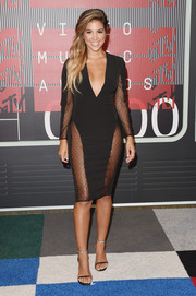 Liz Hernandez looked va-va-voom in a sheer-panel LBD during the MTV VMAs.