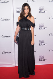 Julia Restoin-Roitfeld looked like a gothic goddess in her black ADEAM halter gown during the New York City Ballet Fall Gala.