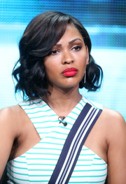 Meagan Good looked ultra girly with her short curls at the 2015 Summer TCA Tour.