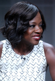 Viola Davis looked darling with her vintage-style short waves at the 2015 Summer TCA Tour.