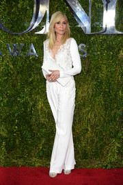 Judith Light was all about laid-back elegance in a white lace-accented jumpsuit by Elie Saab at the Tony Awards.