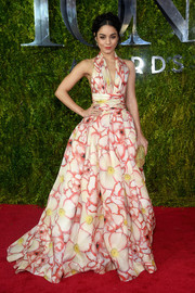 Vanessa Hudgens looked downright divine in a floral halter gown by Naeem Khan at the Tony Awards.