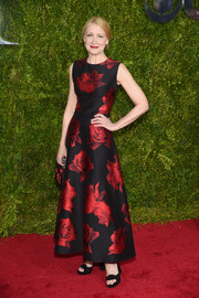 Patricia Clarkson was all abloom in a rose-print dress by Alexander McQueen at the Tony Awards.