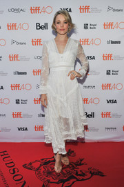 Rachel McAdams went for boho cuteness in this floaty Zimmermann LWD during Jason Reitman's Live Read at TIFF.