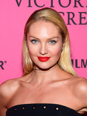 Candice Swanepoel opted for a fuss-free straight 'do when she attended the Victoria's Secret fashion show after-party.