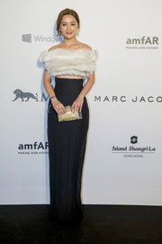 Charlene Choi turned heads with her swirly white crop-top at the amfAR Hong Kong Gala.