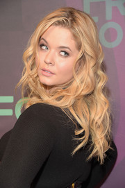 Sasha Pieterse wore her hair down in a tumble of curls when she attended the ABC Freeform Upfront.