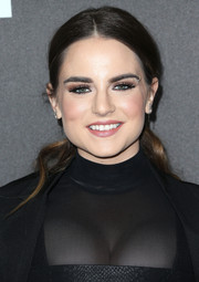 Jojo sported a wavy center-parted ponytail when she attended the Billboard Power 100 celebration.